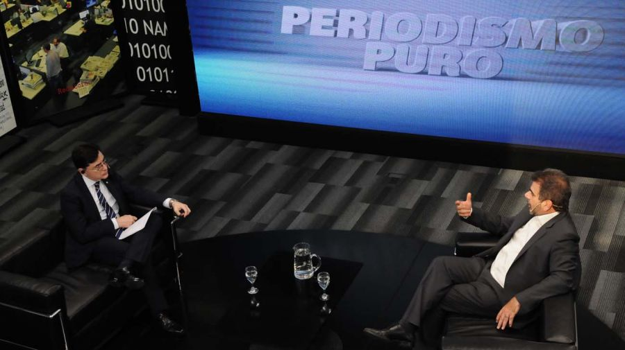 Cristian Ritondo, en la entrevista con Jorge Fontevecchia.