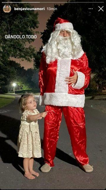Disfrazado de Papá Noel: Benjamín Vicuña animó la Noche Buena