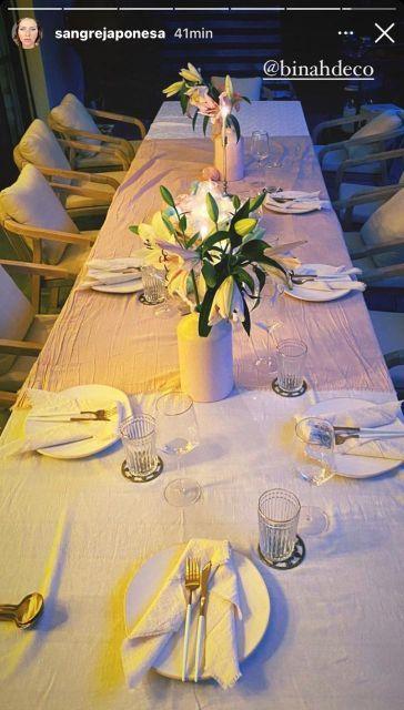 La mesa navideña de la China Suárez y Benjamín Vicuña