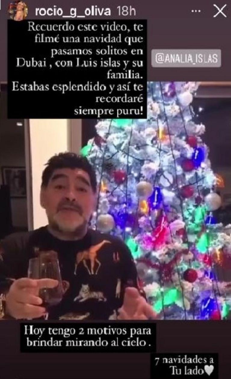 El inédito homenaje de Rocío Oliva a Diego Maradona en WhatsApp
