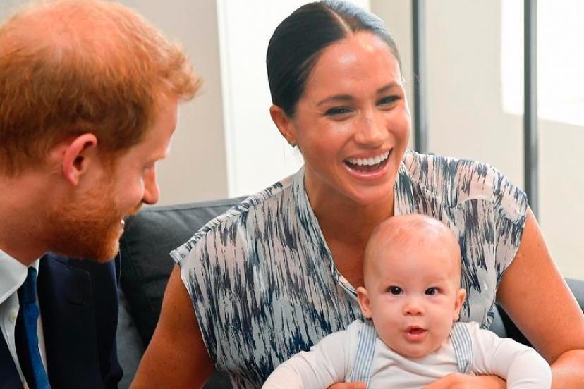 El príncipe Harry, Meghan Markle y Archie