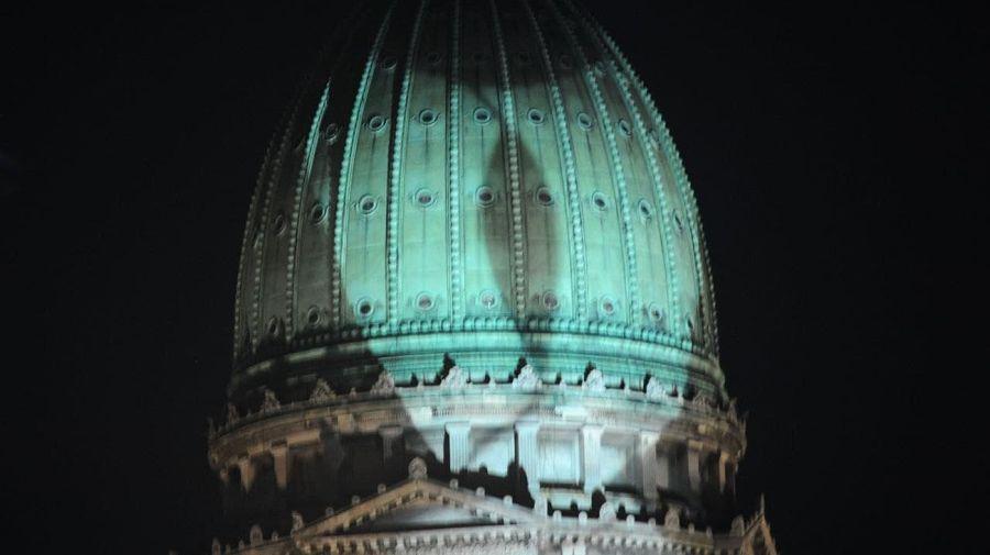 El Congreso se tiñó de verde tras la aprobación del aborto en el Senado.