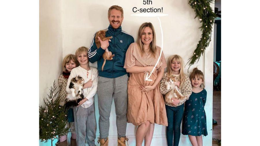 Emily Mitchell y su familia