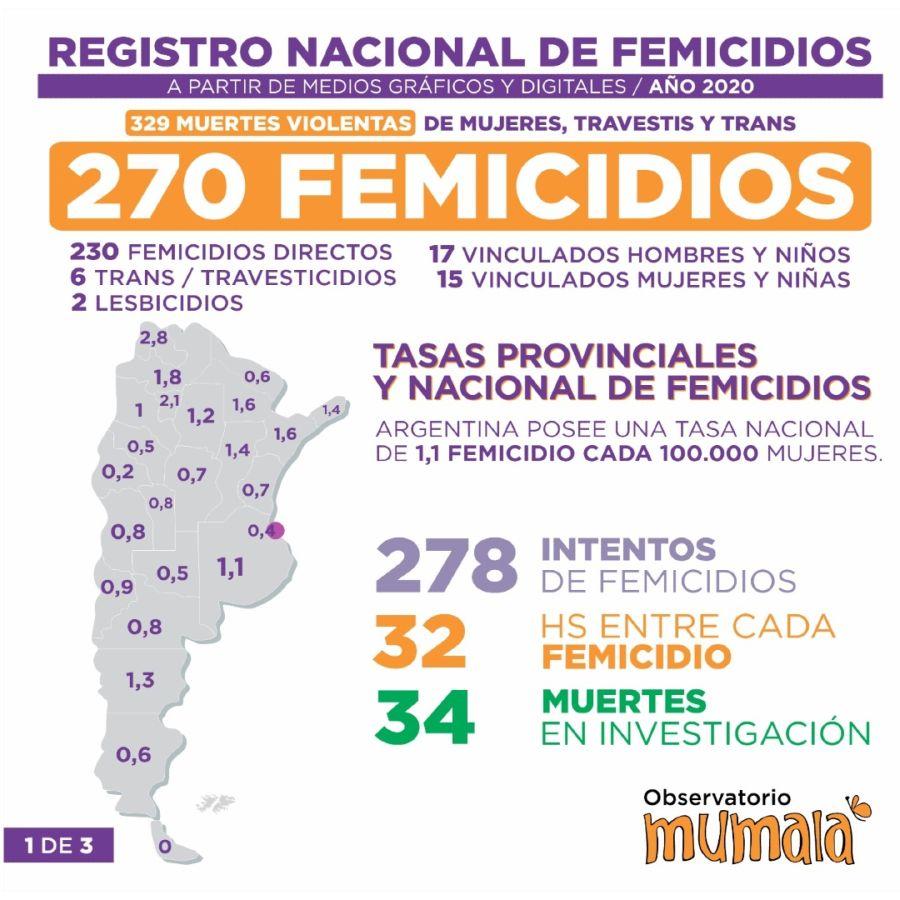 Femicidios Pandemia 2020