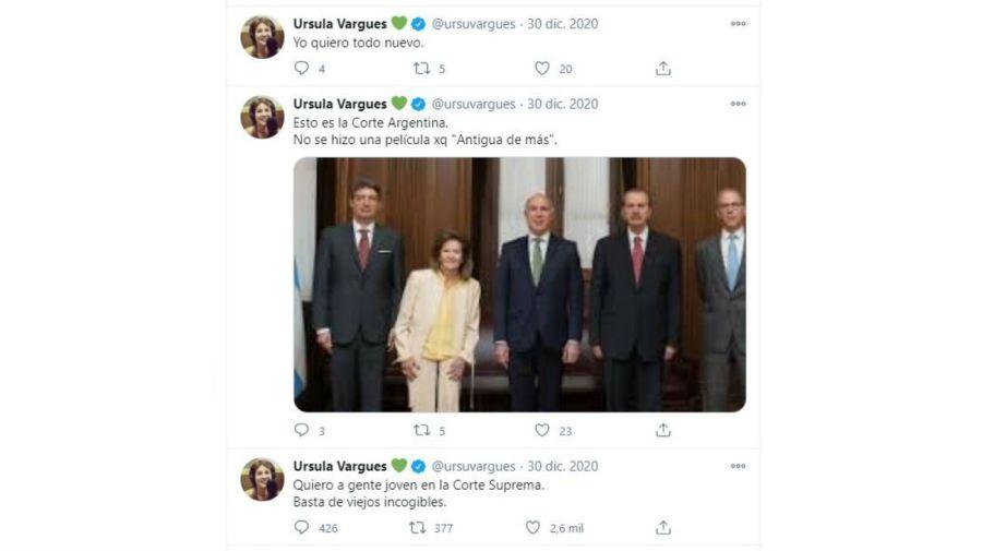 Ursula Vargues contra la Corte Suprema