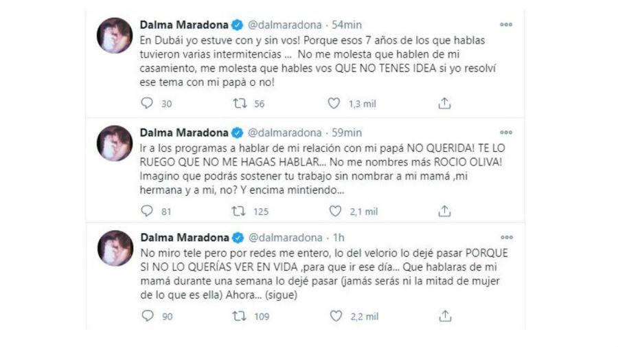 Dalma Maradona contra Rocio Oliva