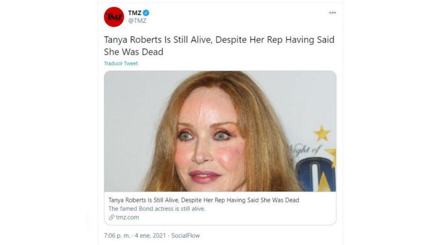 Tanya Roberts vive
