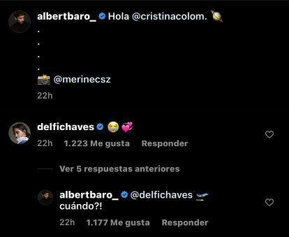 Mirá la reacción de Delfi Chaves: Albert Baró presentó a su nuevo amor