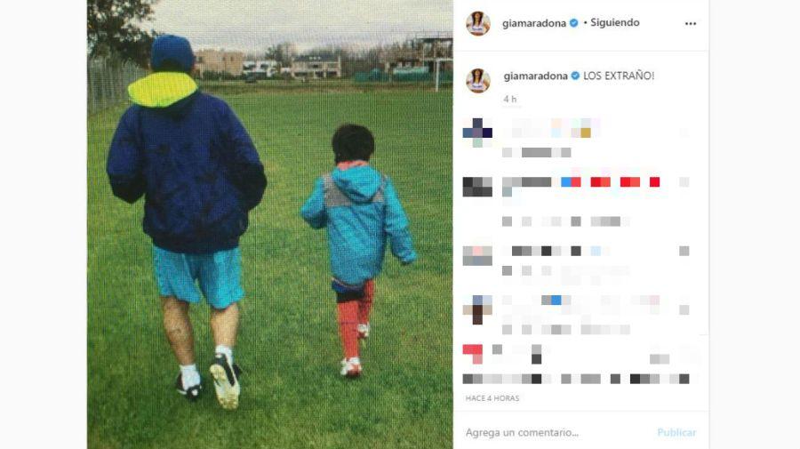 Gianinna Maradona - Diego Maradona - Benjamin Aguero