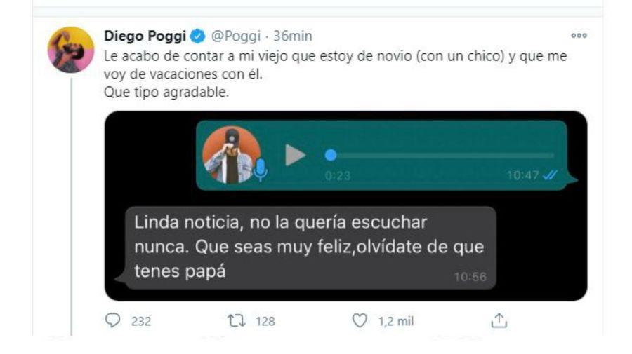 Diego Poggi - mensaje padre