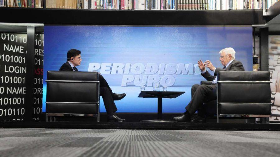 Luis Chiozza, en la entrevista con Jorge Fontevecchia.