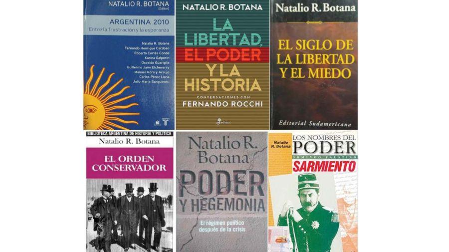 Los libros de Natalio Botana.