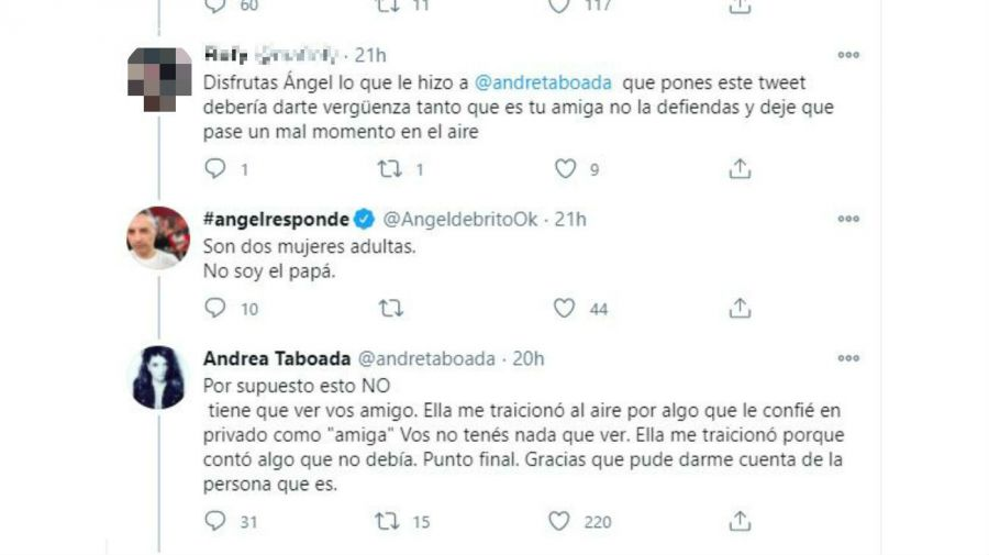 Andrea Taboada contra Yanina Latorre