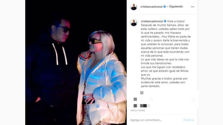 Cristian Castro y Maite
