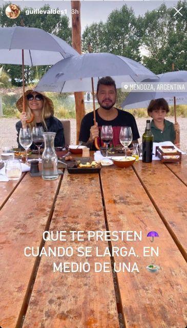 El blooper de Marcelo Tinelli y Guillermina Valdés en un almuerzo