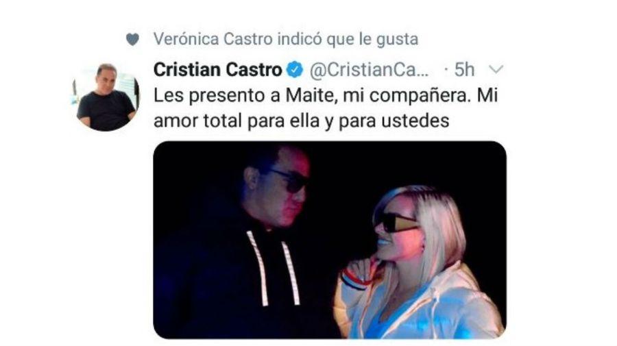 Reaccion Veronica Castro noviazgo Cristian