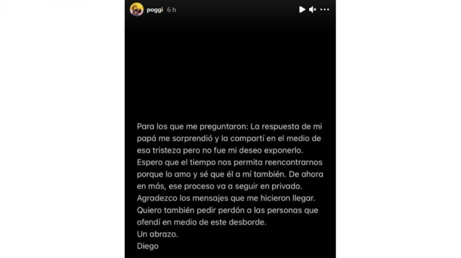 Mensaje Diego Poggi