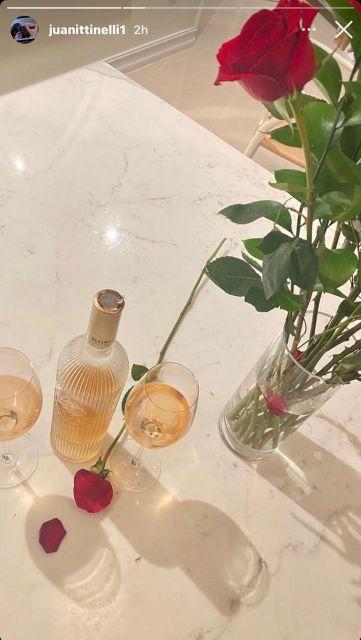 Así fue la cena romántica de Juanita Tinelli y Mika Bonomi