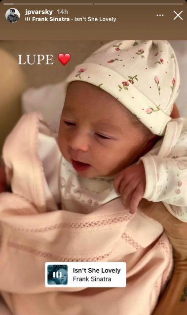 Conocé a Lupe, la hija recién nacida de Juan Pablo Varsky