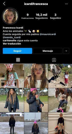 Así fue la inauguración del Instagram de Francesca Icardi