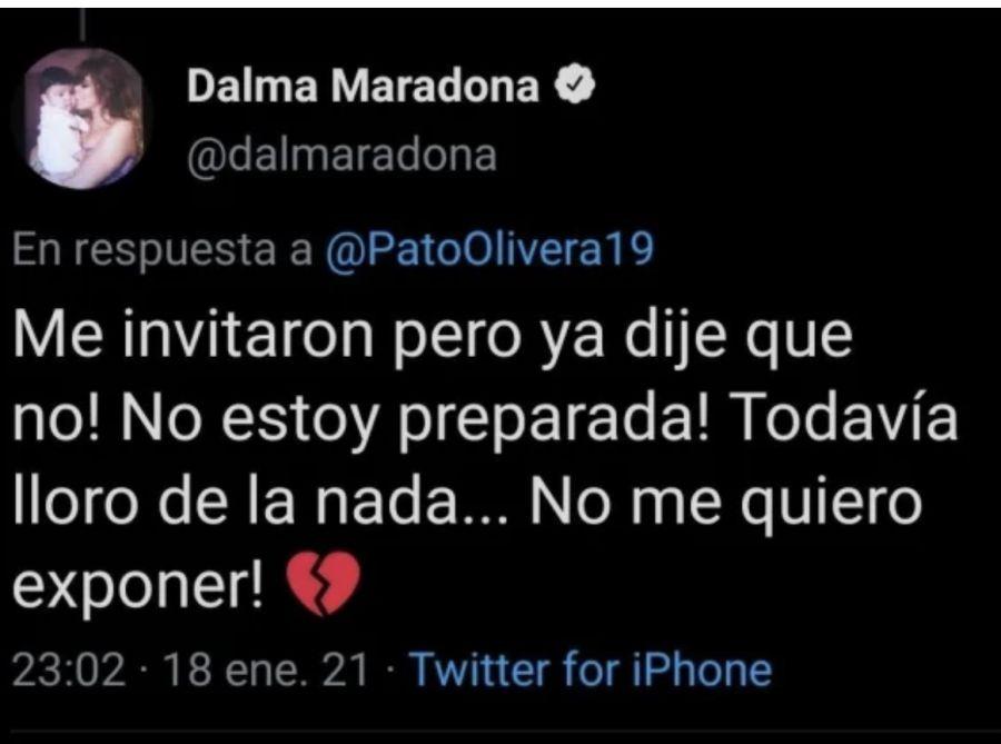 Dalma Maradona explicó por qué le dijo que no a MasterChef Celebrity 2