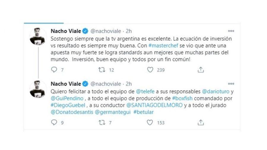 Nacho Viale y su mensaje por MasterChef