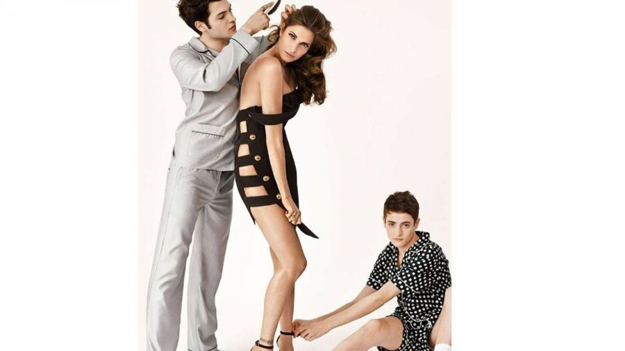 Peter Brant, Stephanie Seymour y Harry Brant
