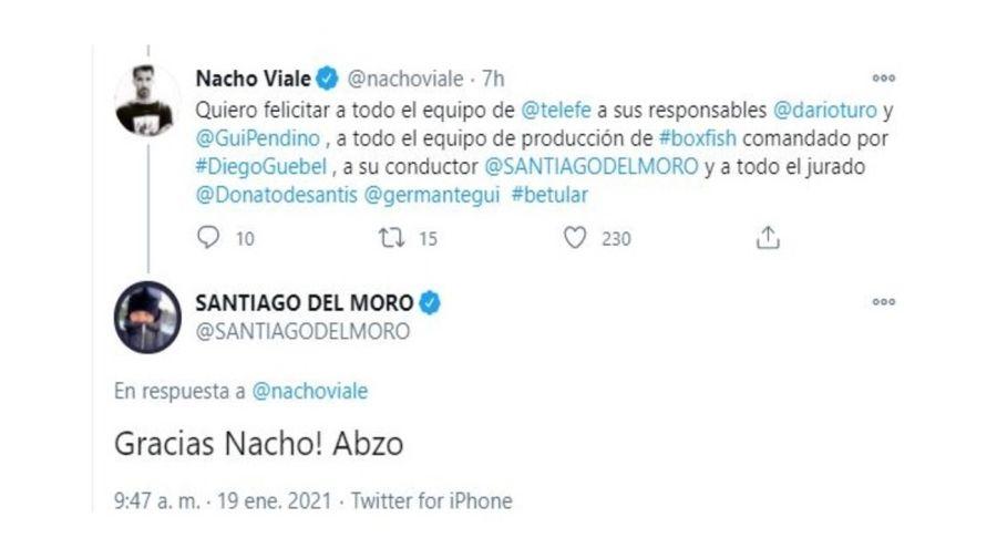 Respuesta Santiago del Moro a Nacho Viale