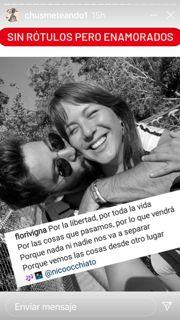Flor Vigna y Nico Occhiato mensaje borrado