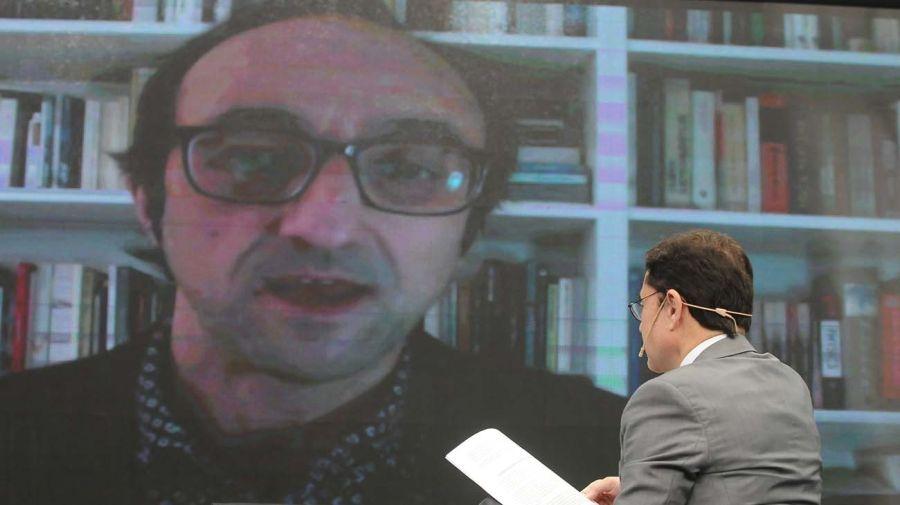 Agustín Fernández Mallo, en la entrevista con Jorge Fontevecchia.
