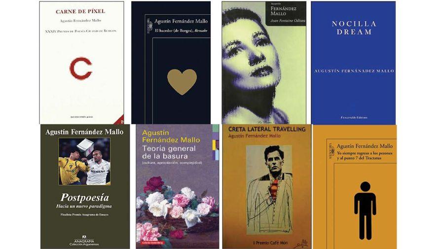 Algunos de los libros de Agustín Fernández Mallo.