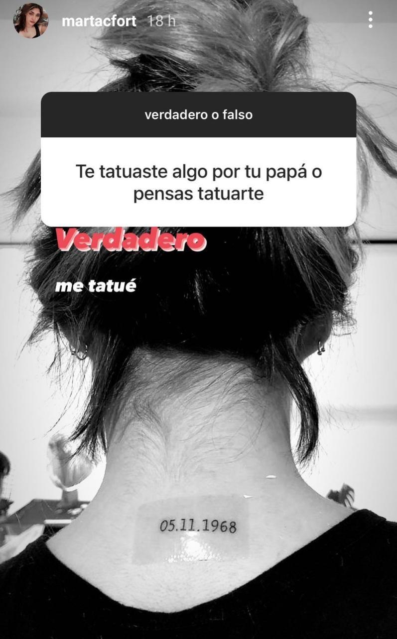 El emotivo tatuaje de Martita Fort en honor a Ricardo