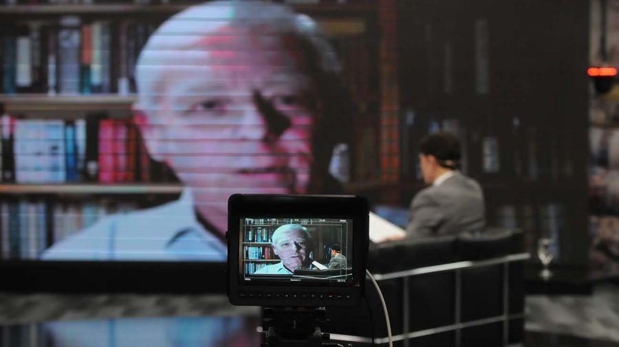 John Scott, en la entrevista con Jorge Fontevecchia.