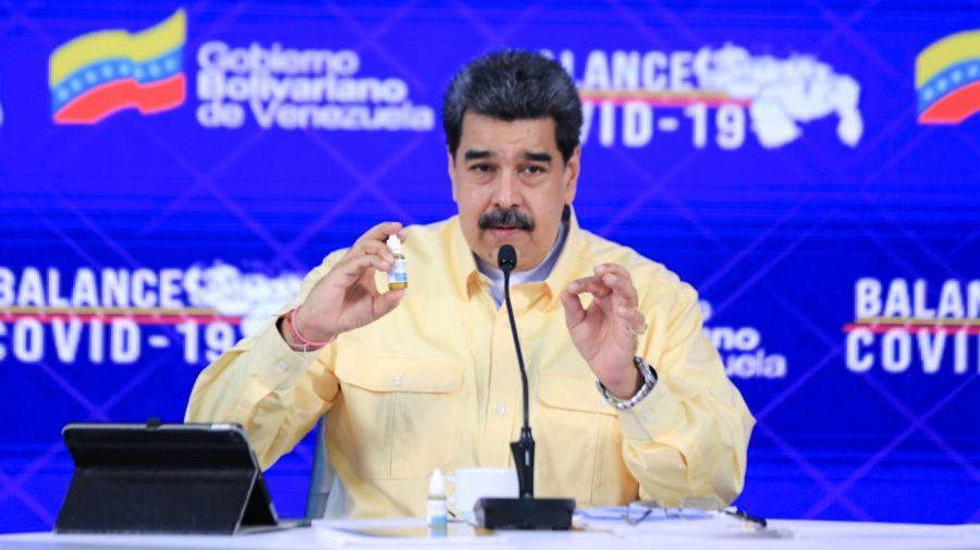 Nicolás Maduro gotas milagrosas anti covid g_20210124