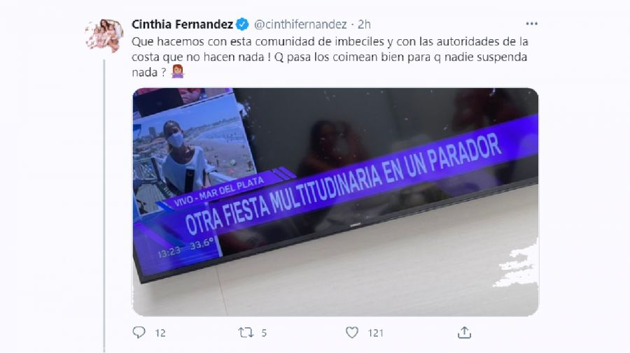 Cinthia Fernández tuit