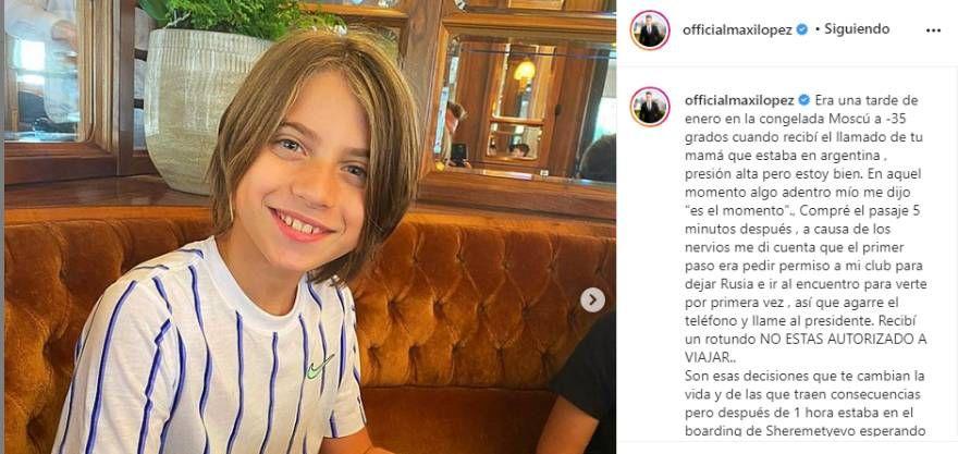 Maxi López dedicó un mensaje a su hijo y tuvo un llamativo gesto con Wanda Nara