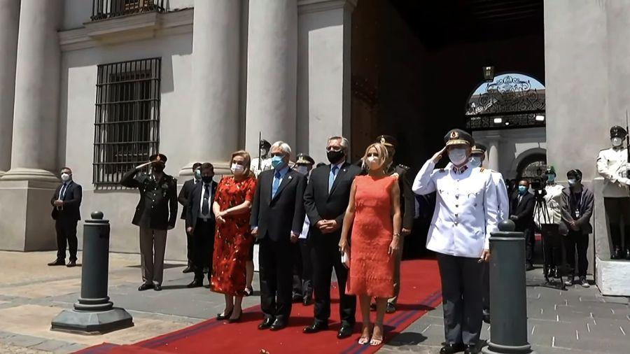 Alberto Fernández junto a su par Sebastián Piñera.