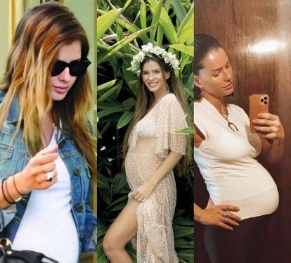 La China Suárez en sus tres embarazos: Rufina, Magnolia y Amancio