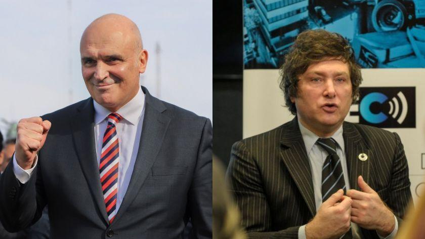 Los economistas José Luis Espert y Javier Milei.