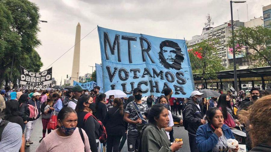 Marcha del Polo Obrero y organizaciones sociales por el Centro Porteño 20210128