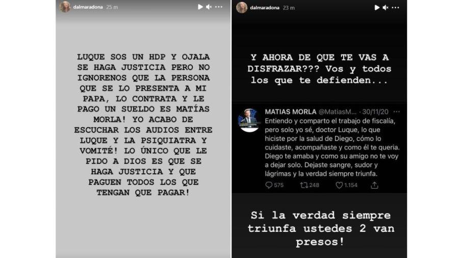 Dalma Maradona-Leopoldo Luque-Gianinna Maradona
