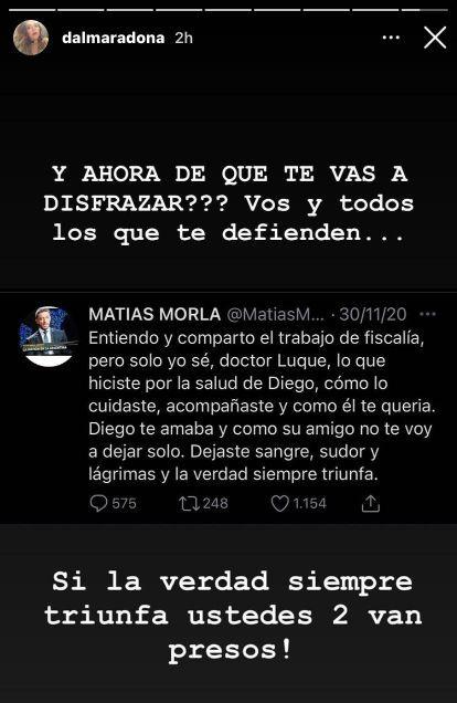 Dalma Maradona pidió justicia tras hacerse públicos unos audios de Luque