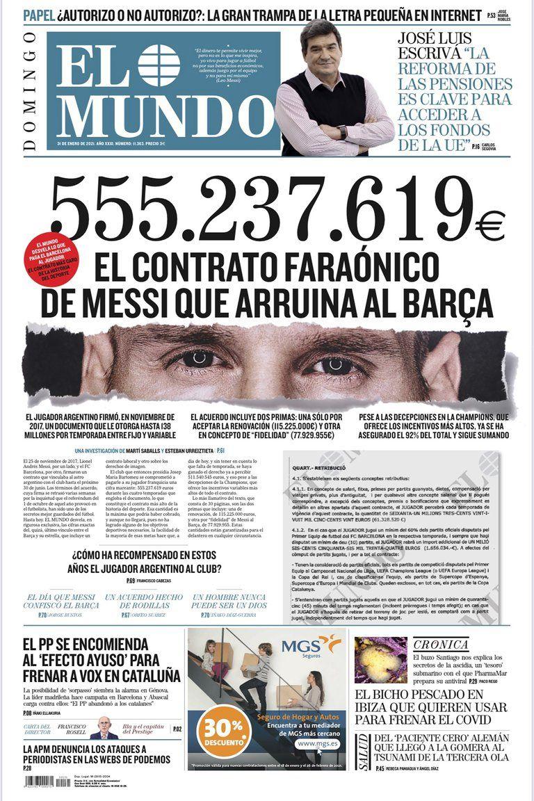 Se conoció la cifra por la que Leo Messi firmó contrato con el Barcelona