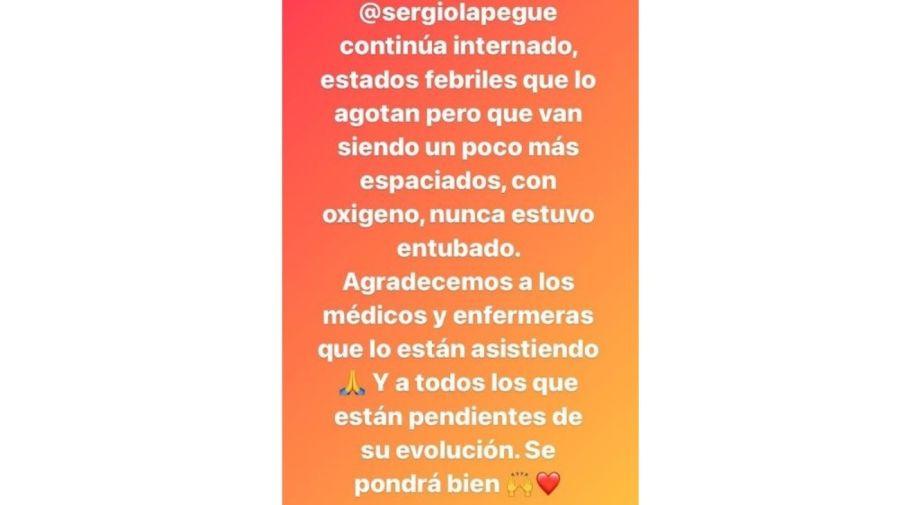 Sergio Lapegue salud