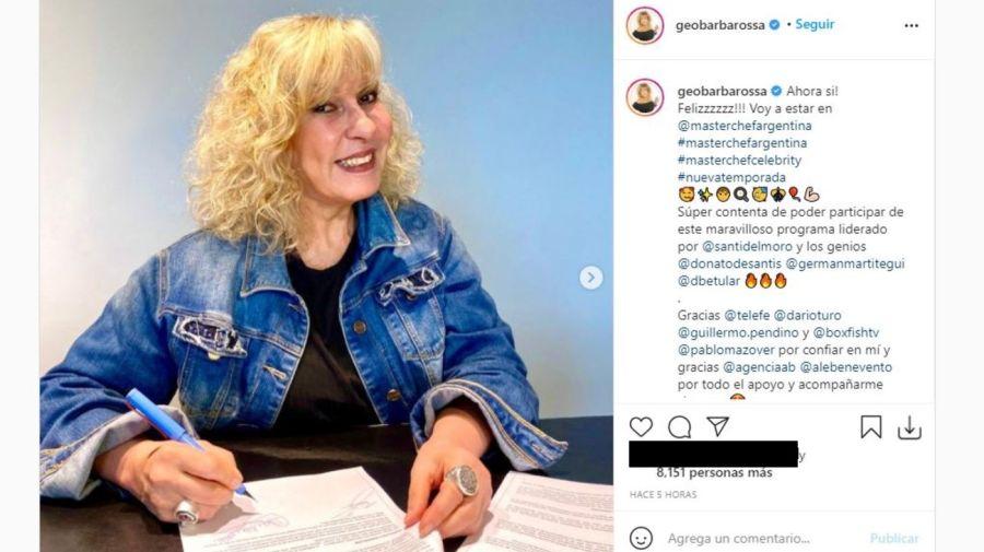 Georgina Barbarossa en MasterChef Celebrity 2