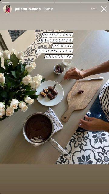 Juliana Awada te enseña a preparar chocolates saludables