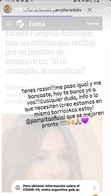 La decisión de Pampita tras recibir el apoyo de Nicole Neumann en redes sociales