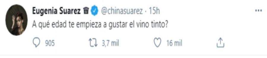 La pregunta de la China Suárez que descolocó a sus fans