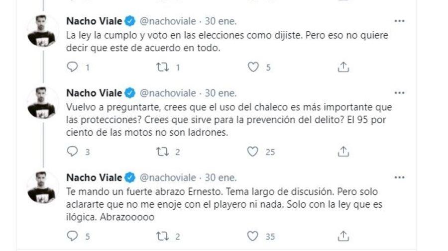 Nacho Viale respuesta Ernesto Arriaga