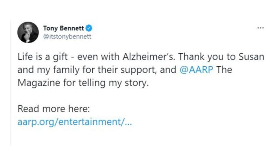 Tony Bennett mensaje alzheimer